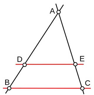 Mathe Triangle Thales